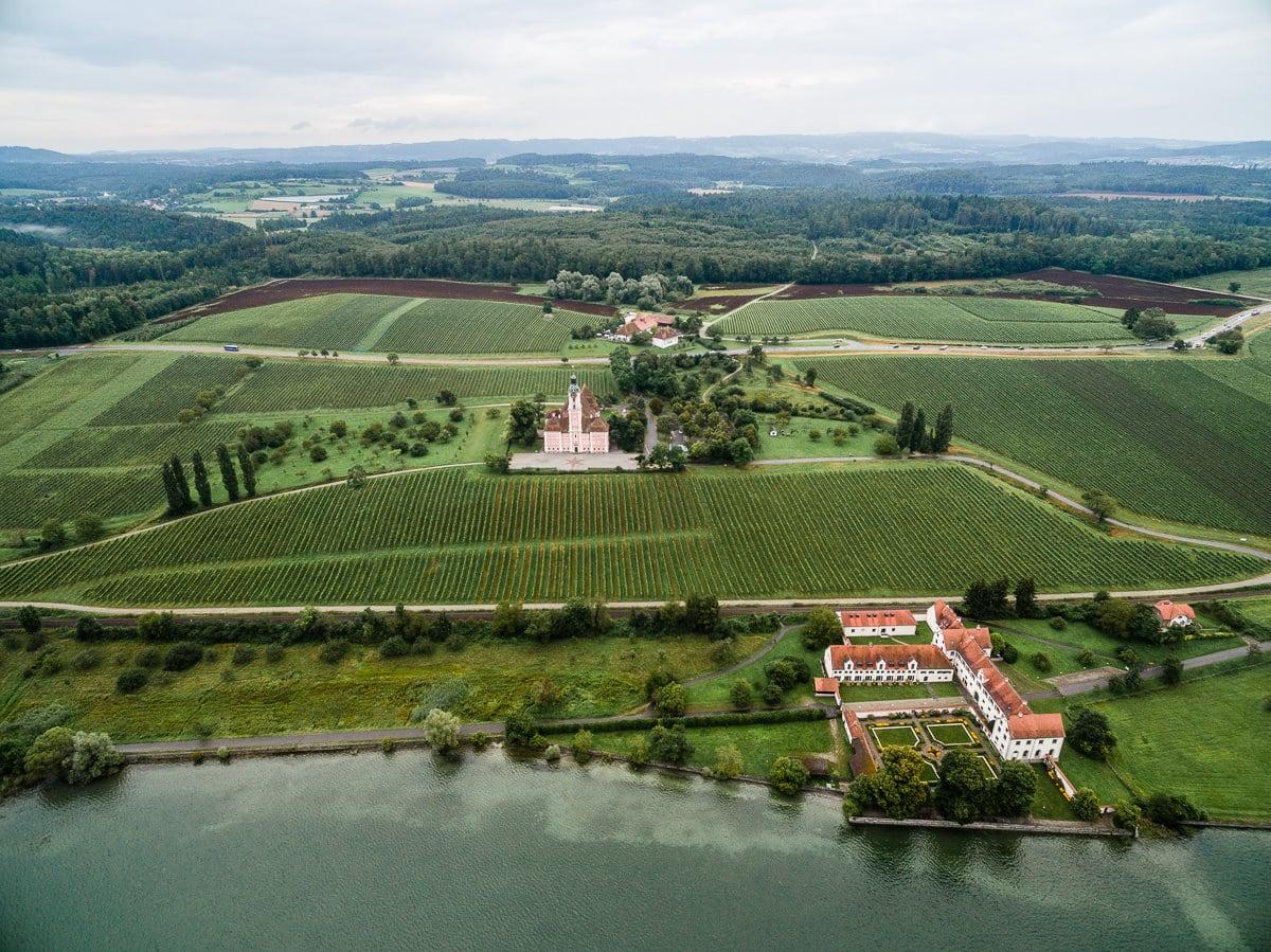 Kloster birnau von oben