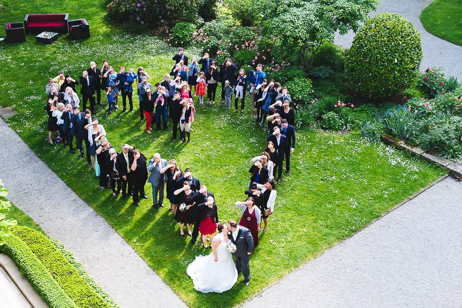 Hochzeit Herz Gruppenbild