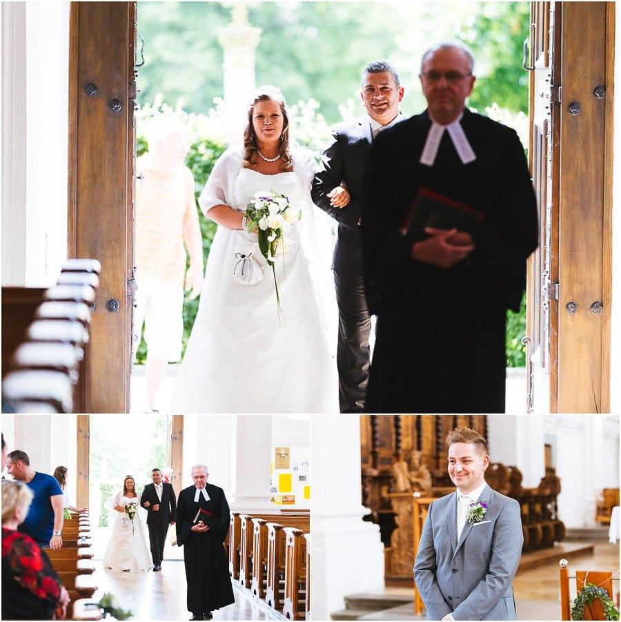 Braut einzug in der Schlosskirche