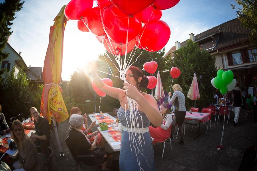 Luftballons auf Hochzeit