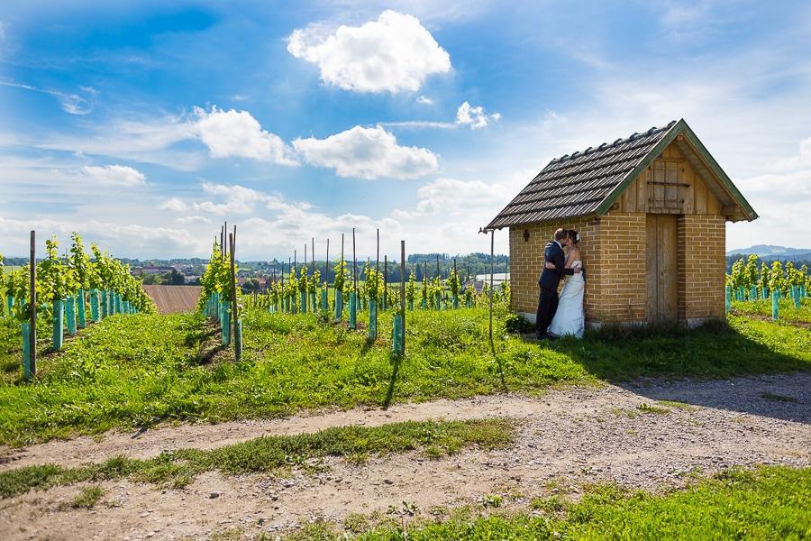 Kleine Hütte in der Schweiz
