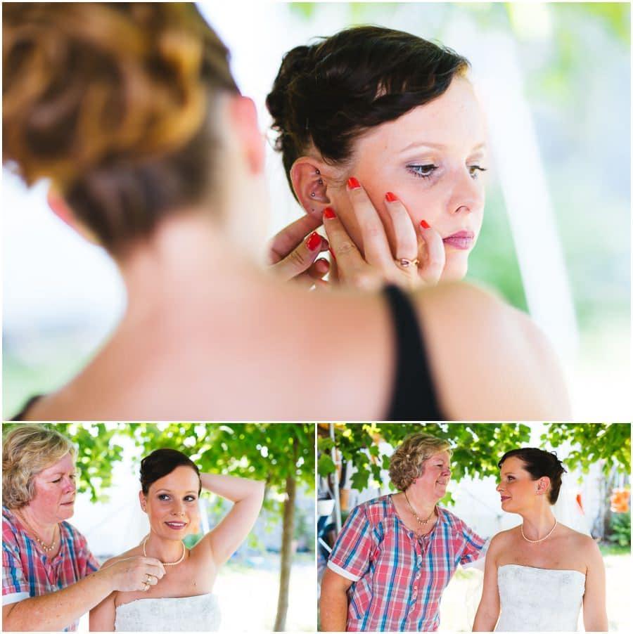 Braut mit Mama