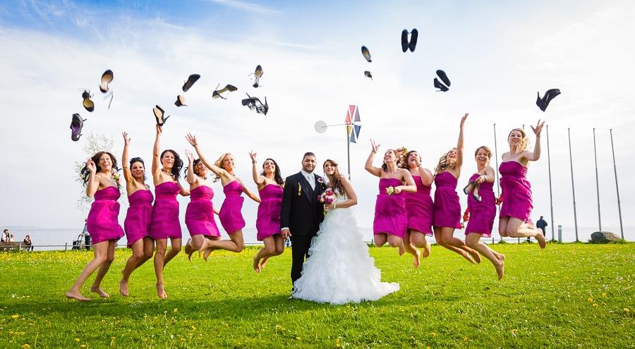 Hochzeit in Friedrichshafen mit Hubschrauber Rundflug