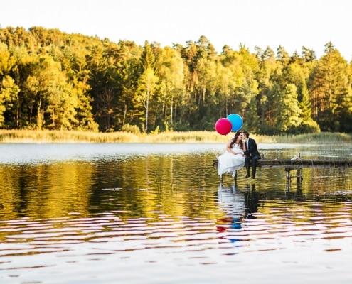 Hochzeit in Ravensburg mit feier im Haus am See direkt am Flappach