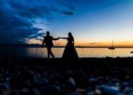 Paar im Sonnenuntergang hochzeit gohren